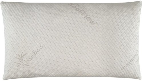 Snuggle-Pedic Bamboo Shredded Memory Foam Pillow having Kool-Flow Micro-Vented Cover >