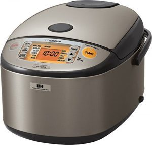 Zojirushi Induction Heating System Rice Cooker and Warmer, Dark Grey