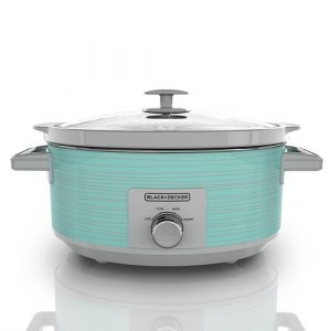 BLACK DECKER 7 Quart Dial Control, Slow Cooker with Built-in Lid Holder