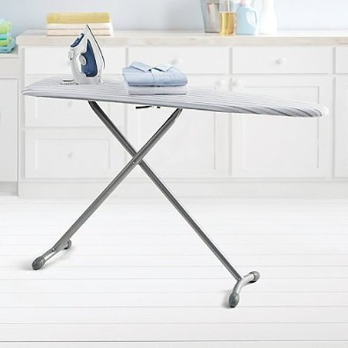Real Simple Ironing Board and Bonus Folding Board with Sturdy steel, 15 W by 54 L, Gray by Real Simple