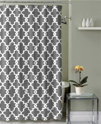 Geometric Patterned Shower Curtain