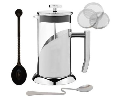 Cuisine Essentials French Press Coffee Maker Set - Stainless Steel French Coffee Press - 34 oz