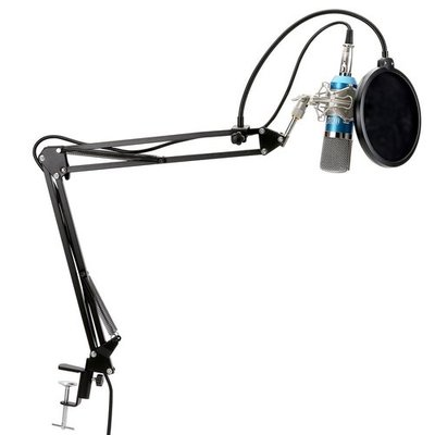 TONOR XRL to 3.5 mm Podcasting Audio Studio Recording Condenser Microphone for Computer with Adjustable Microphone Suspension Boom Scissor Arm Stand and Microphone Kits
