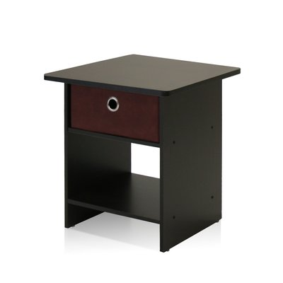 Furinno End Black Nightstands
