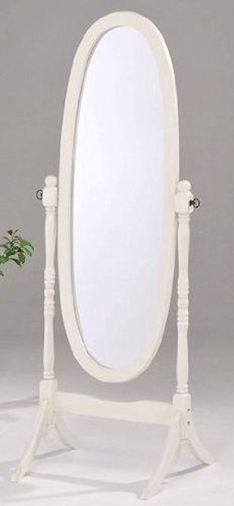 Legacy Décor Swivel Wood Cheval Floor Mirror