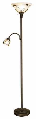 Normande Lighting Incandescent Torchiere Floor Lamp