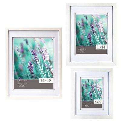 Gallery Solutions 11x14 White Wood Frame