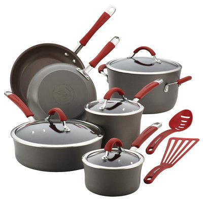 Rachael Ray Cucina Aluminum Cookware Set, 12 Pieces