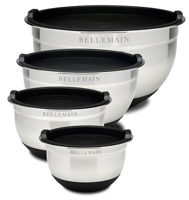 Bellemain Stainless Steel Mixing Bowl Set, 4 Pieces
