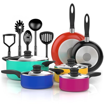 Vremi Nonstick Cookware Set, 15 Pieces