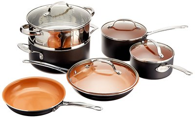 Gotham Steel Nonstick Cookware Set, 10 Pieces