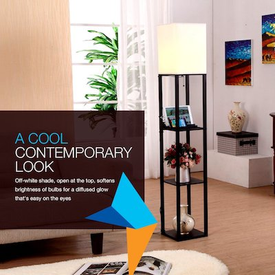 Brightech Maxwell Floor Lamp Modern Asian Style Standing Lamp