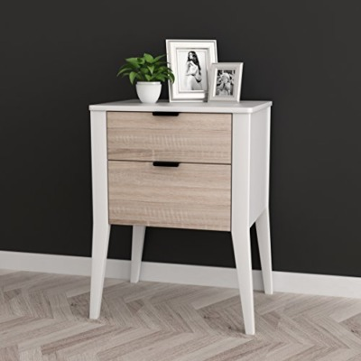 White/Sonoma finish nightstand