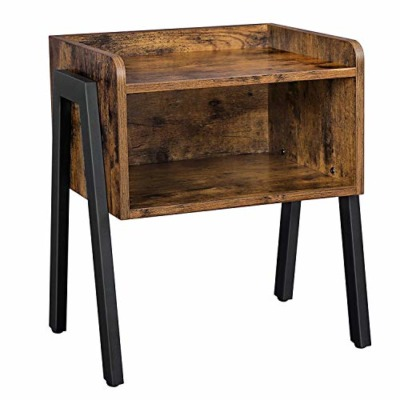 VASAGLE Industrial Nightstands Bedside Table