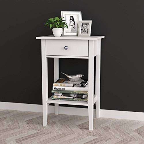 White Finish Nightstands