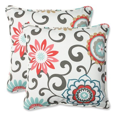 Pillow Pom Pom Play Peachtini Throw Pillow