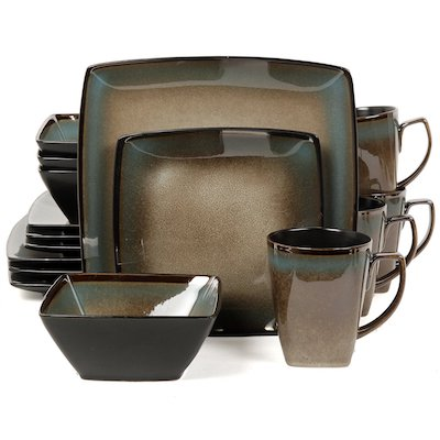 Gibson Elite Tequesta Square Dinnerware Set