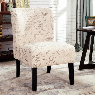 Round hill Furniture Capa English Letter Print Fabric