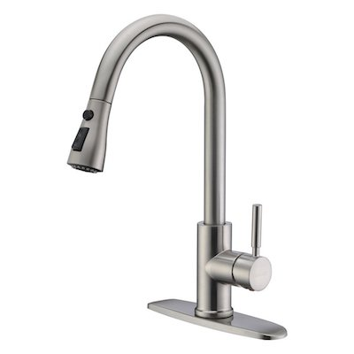 WEWE Single Handle High Arc Brushed Nickel