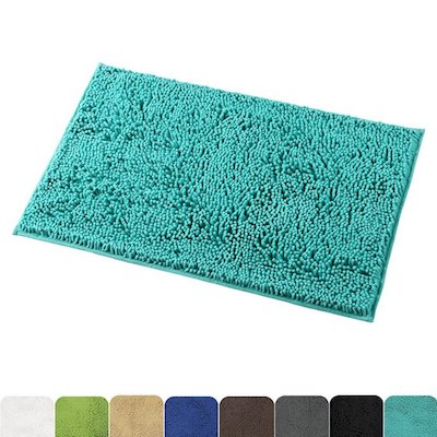 Mayshine Bath Mat with Water Absorbent Soft Microfibers, 20