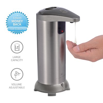 GLAMFIELDS Soap dispenser, Touchless Stainless Steel