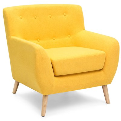 Mid-Century Modern Upholstered Tufted Accent Chair