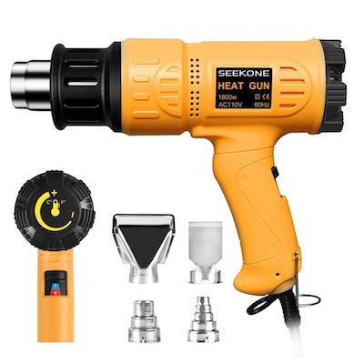 SEEKONE Heat Gun Heavy Duty Hot Air Gun Variable Temperature