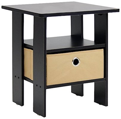 Furinno 11157EX/BR End Table Bedroom Night Stand