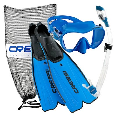 Cressi Rondinella Full Foot Mask Fin Snorkel Set