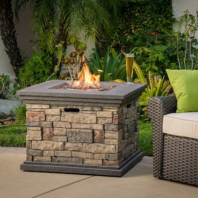 Crawford Outdoor Square Propane Fire Pit