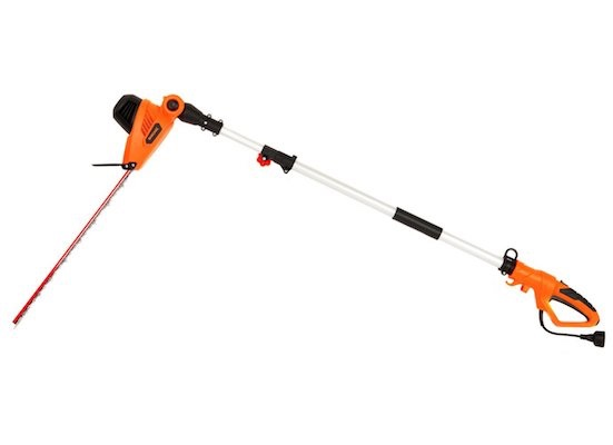 GARCARE 4.8-Amo Multi-Angle Corded Pole Hedge Trimmer