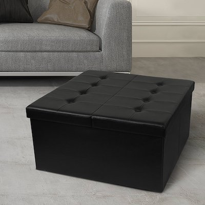 Otto & Ben Ottoman, Ottomans Bench with Faux Leather