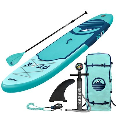 PEAK Inflatable Stand Up Paddle Board Complete Package