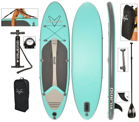 Vilano Navigator SUP Stand Up Paddle Board Package
