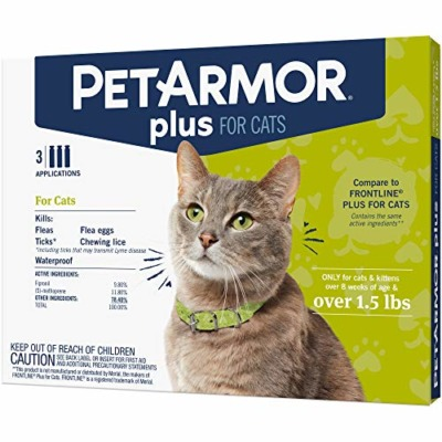 PETARMOR Plus Flea & Tick Prevention for Cats with Fipronil
