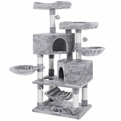 BEWISHOME Multi-Level Cat Tree Condo with Sisal Scratching Posts