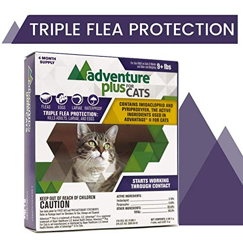 Adventure Plus Triple Flea Protection for Cats, 9 lbs and Over