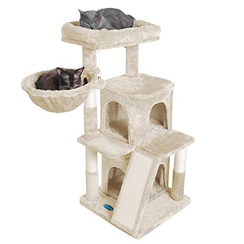 Hey-bro Multi-Level Cat Tree Condo Furniture with Sisal-Covered
