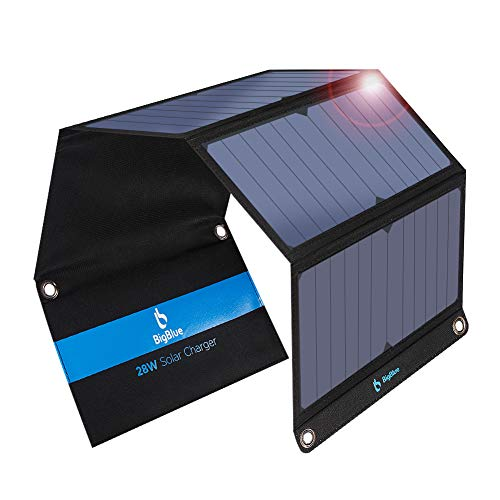 3 USB Ports 28W Foldable Solar Portable Chargers