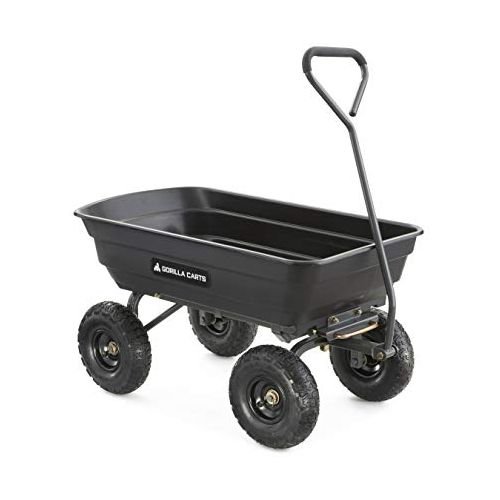Gorilla Carts Garden Dump Cart with Steel Frame