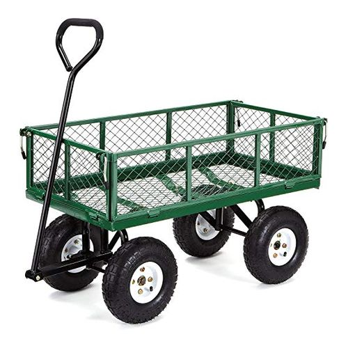 Gorilla Carts Steel Garden Cart with Removable Sides