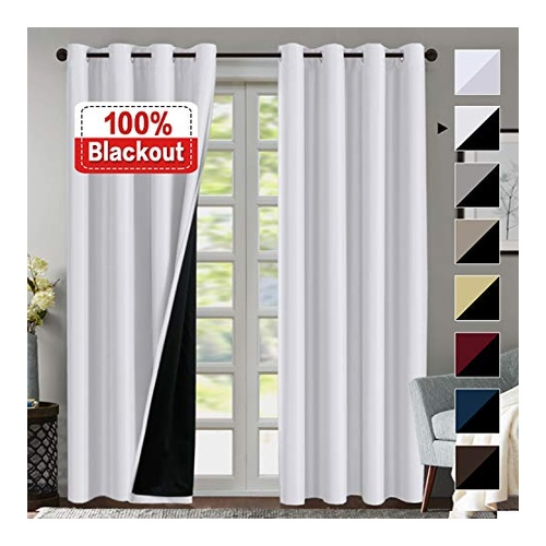 White Curtains With Double Layer by Flamingo P