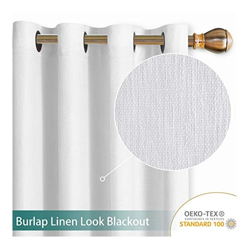 Linen White Blackout Curtains by LORDTEX