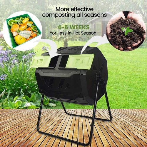 SQUEEZE master Dual Compartment Compost Tumbler