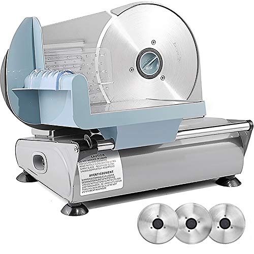 Sophinique Meat Slicer with 3 Removable Blades